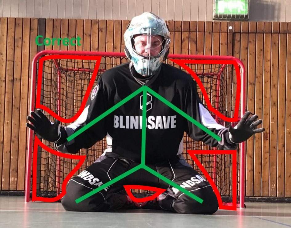 Floorball Goalie Five holes